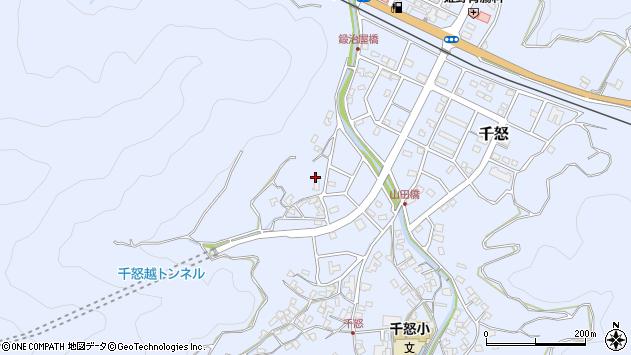 大分県津久見市千怒622周辺の地図