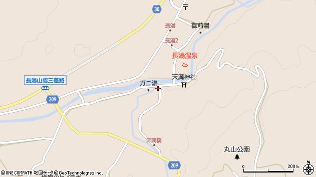 大分県竹田市直入町大字長湯7703周辺の地図