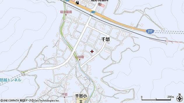 大分県津久見市千怒7287周辺の地図
