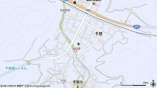 大分県津久見市千怒7230周辺の地図