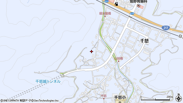 大分県津久見市千怒624周辺の地図
