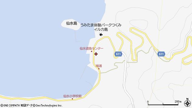 大分県津久見市四浦1581周辺の地図