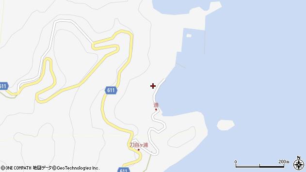 大分県津久見市四浦2423周辺の地図