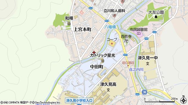 大分県津久見市上宮本町4周辺の地図