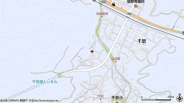 大分県津久見市千怒620周辺の地図