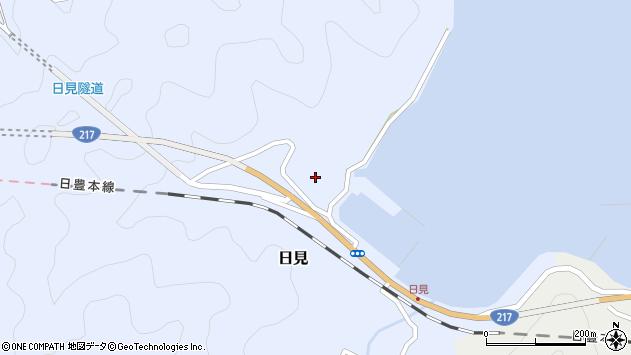 大分県津久見市日見1176周辺の地図