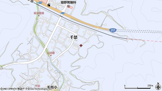 大分県津久見市千怒7362周辺の地図