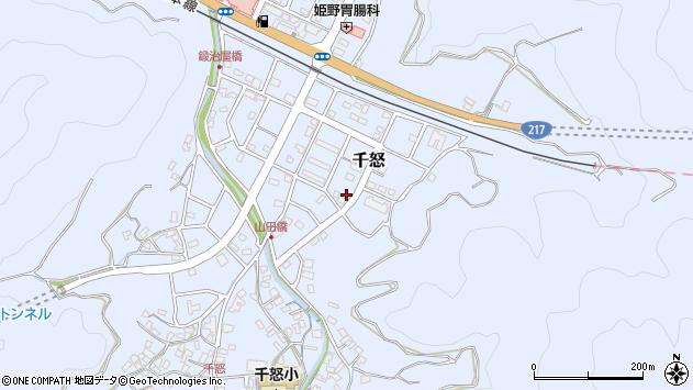 大分県津久見市千怒7337周辺の地図