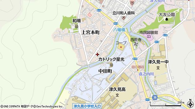 大分県津久見市上宮本町5周辺の地図