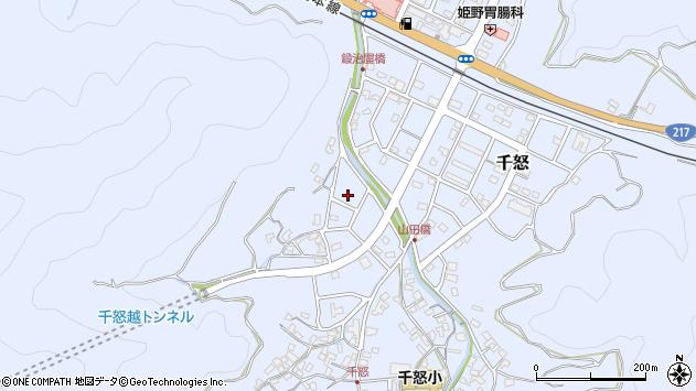 大分県津久見市千怒7099周辺の地図