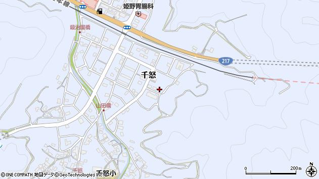 大分県津久見市千怒7359周辺の地図