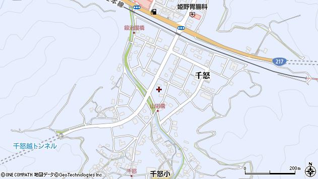 大分県津久見市千怒7225周辺の地図