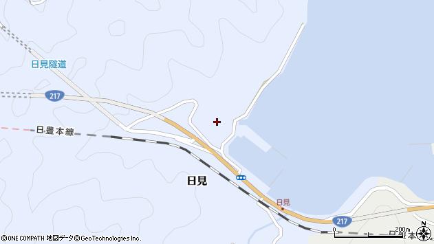 大分県津久見市日見1158周辺の地図