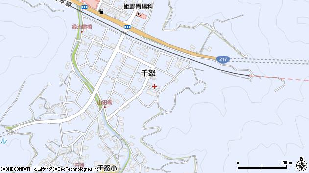 大分県津久見市千怒7356周辺の地図