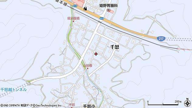 大分県津久見市千怒7299周辺の地図