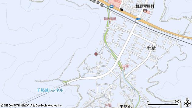 大分県津久見市千怒618周辺の地図
