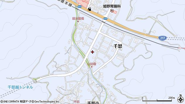 大分県津久見市千怒7217周辺の地図