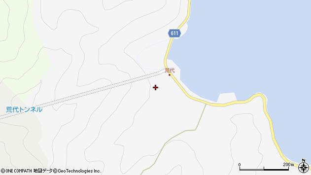 大分県津久見市四浦荒代周辺の地図