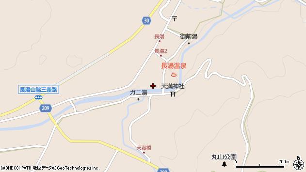 大分県竹田市直入町大字長湯7995周辺の地図