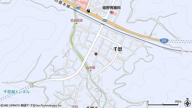 大分県津久見市千怒7220周辺の地図