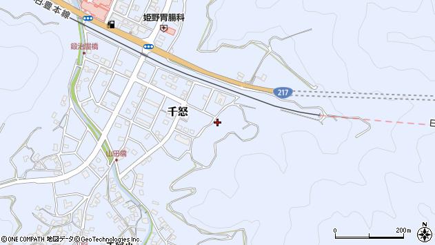 大分県津久見市千怒7377周辺の地図