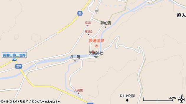 大分県竹田市直入町大字長湯7992周辺の地図