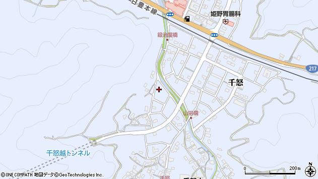 大分県津久見市千怒7105周辺の地図