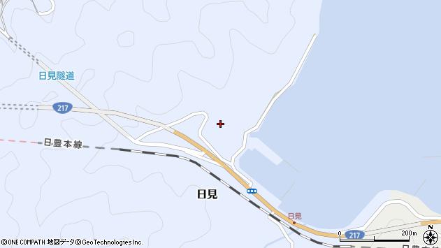 大分県津久見市日見1180周辺の地図