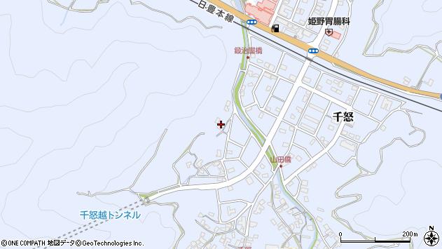 大分県津久見市千怒610周辺の地図