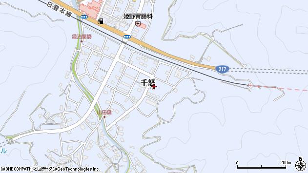 大分県津久見市千怒7366周辺の地図