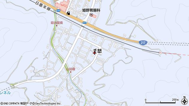 大分県津久見市千怒7331周辺の地図
