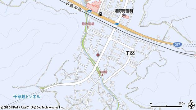 大分県津久見市千怒7193周辺の地図