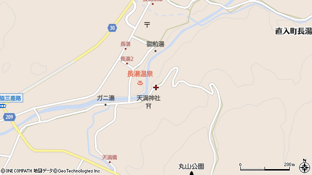 大分県竹田市直入町大字長湯7779周辺の地図