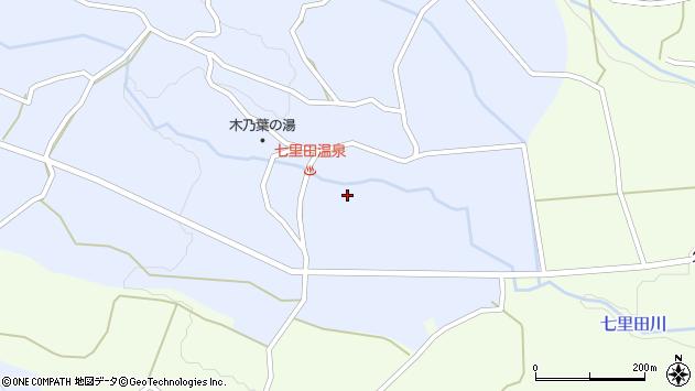 大分県竹田市久住町大字有氏七里田周辺の地図