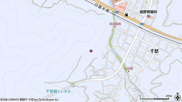 大分県津久見市千怒鍛冶屋周辺の地図