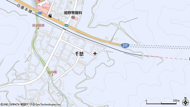 大分県津久見市千怒7380周辺の地図