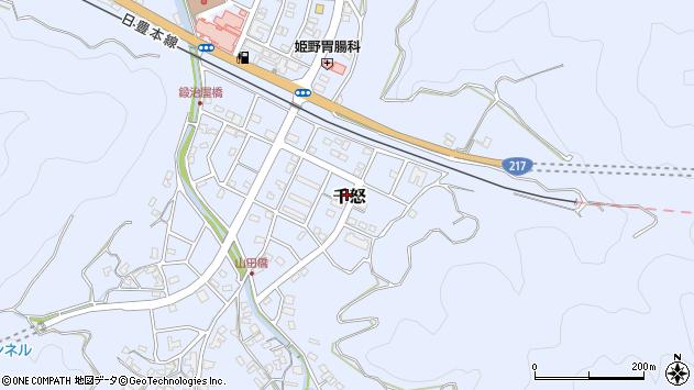 大分県津久見市千怒古川周辺の地図