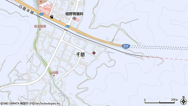 大分県津久見市千怒7397周辺の地図
