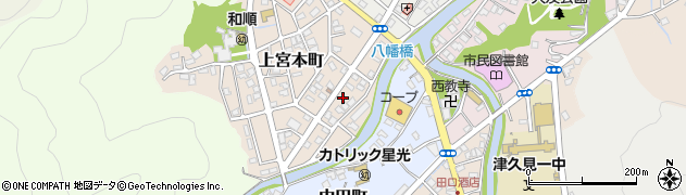 大分県津久見市上宮本町2周辺の地図