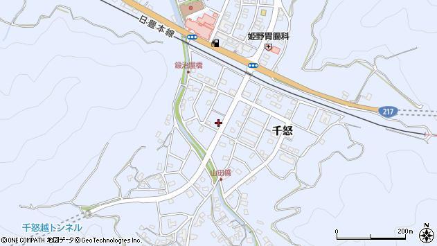 大分県津久見市千怒7190周辺の地図