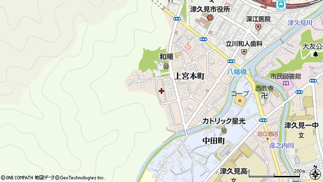 大分県津久見市上宮本町16周辺の地図