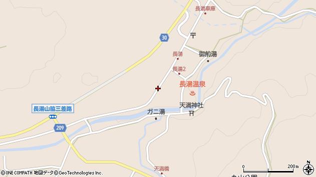 大分県竹田市直入町大字長湯8021周辺の地図