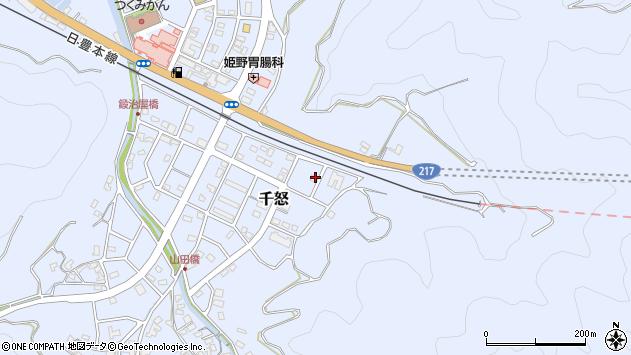 大分県津久見市千怒7404周辺の地図