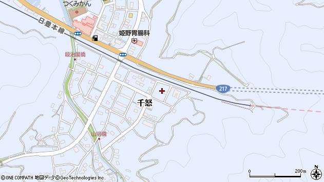 大分県津久見市千怒7403周辺の地図