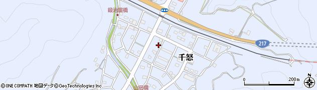 大分県津久見市千怒7315周辺の地図