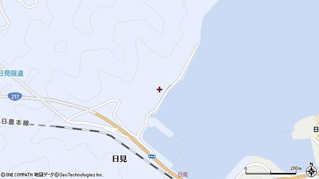 大分県津久見市日見1093周辺の地図