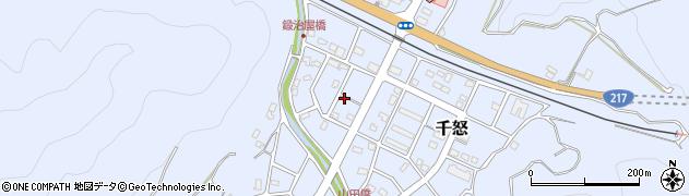 大分県津久見市千怒7179周辺の地図