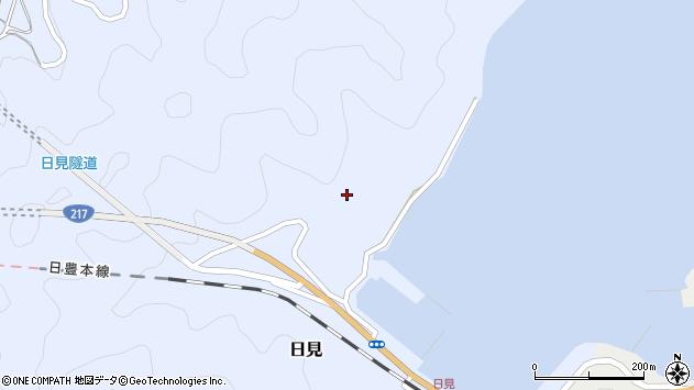大分県津久見市日見日見周辺の地図