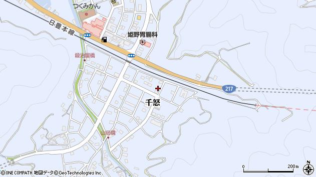 大分県津久見市千怒7416周辺の地図