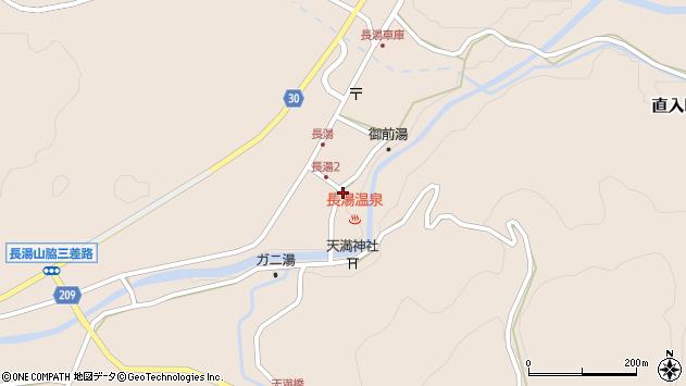 大分県竹田市直入町大字長湯7987周辺の地図